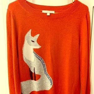LOFT fox sweater size medium.